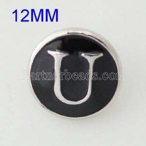 12mm U Druckknöpfe Antik Silber Überzogen mit Emaille KB6681-S Druckknopfschmuck