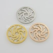 25MM stainless steel coin charms fit  jewelry size wheels