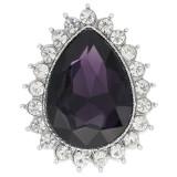 Diseño 20MM chapado en plata con diamantes de imitación púrpura KC9916 broches de joyería