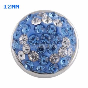 Small size snaps Style chunks with blue rhinestone KS2715-S