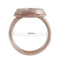 #8 snaps Rose Gold Ring fit mini 12mm snap chunks size 18.5mm