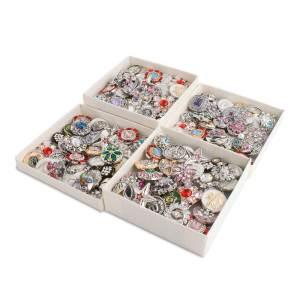 50pcs / lot Botones a presión 20mm Nivel de alta calidad Tipos de mezcla Colores MixMix