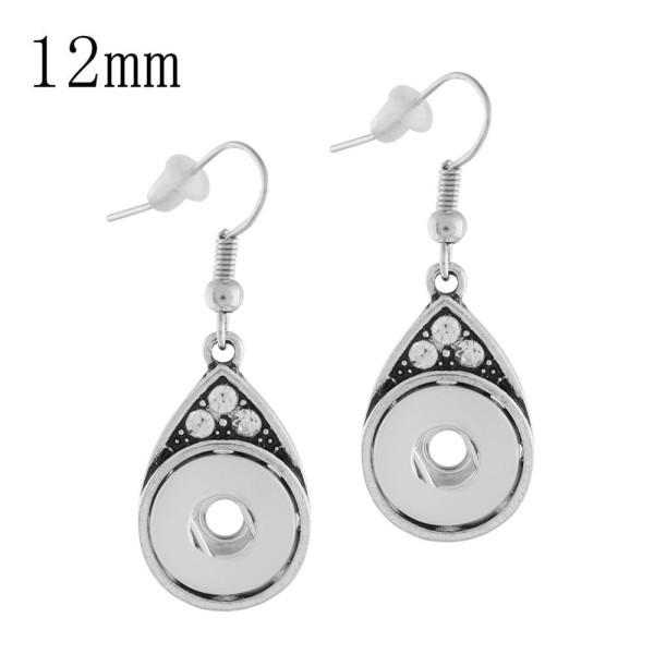 Boucle d'oreille en métal KS1134-S fit 12mm Chunks Snaps bijoux