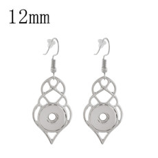 snap sliver Earring fit 12MM snaps style jewelry KS1182-S