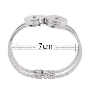2 buttons snaps metal armband fit snaps chunks