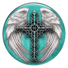 20MM wing Painted enamel metal C5117 print snaps jewelry