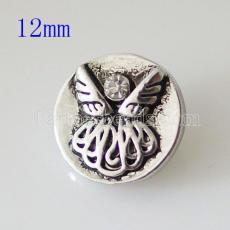 12MM Angel snap plaqué argent avec strass KB7215-S s'encliquette bijoux