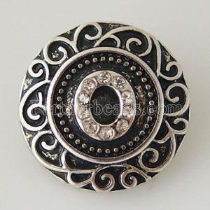 20MM Английский алфавит-оснастка 0 Античное серебро, покрытое стразами KB6268 оснастка ювелирные изделия