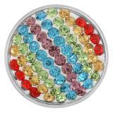 18mm snaps sugar snaps alloy mit mehrfarbigem Strass KB2402-AO snaps jewelry