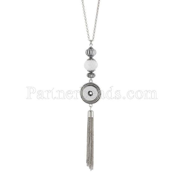 Ожерелье 80CM с подвеской KNUMXmm с защелками