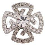 Diseño 20MM chapado en plata con diamantes de imitación blancos KC5465 broches de joyería