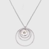 Pendant Necklace with 60CM chain KC1079 fit 20MM chunks snaps jewelry