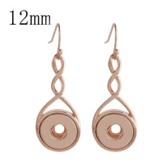 Snap Rose Gold Ohrring Fit 12MM Snaps Style Schmuck KS1148-S