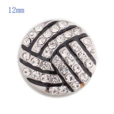 12MM Volant de volleyball avec strass blanc et émail KS5147-S en forme de bijou interchangeable