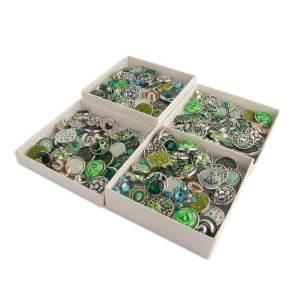 50pcs / lot Druckknöpfe 20mm mischen grünes Aqua, olivgrüne mixmix Farben
