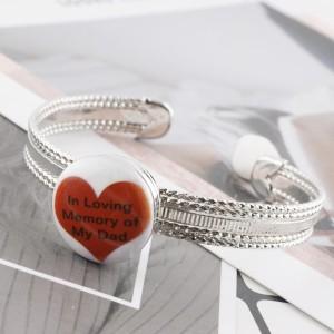 20MM Сердце с росписью эмалью из металла C5357 с принтом защелок ювелирных изделий красного цвета