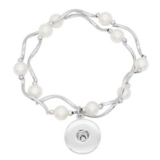 1 buttons With  Adjustable snap Natural Pearl  bracelet fit snaps jewelry KC0841
