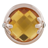20MM design Rose Gold Plated with yellow rhinestone KC9840 snaps jewelry