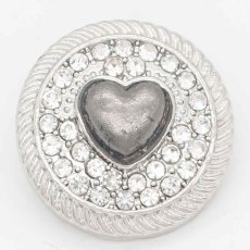 20MM snap Love sliver Plaqué de strass KC6725 snaps bijoux
