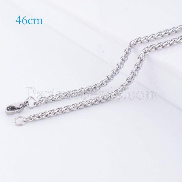 La cadena de moda de acero inoxidable 46CM se ajusta a todas las joyas plateadas FC9023