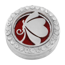22mm weiße Legierung Schmetterling Aromatherapie / Ätherisches Öl Diffusor Parfüm Medaillon Snap mit 1pc 15mm Scheiben als Geschenk
