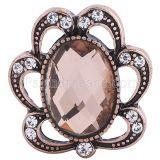 Хрусталь 20MM Антикварное розовое золото, покрытое оранжевыми стразами