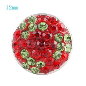 12mm snaps button with red rhinestone KS2701-S snaps jewelry