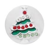 El árbol de Navidad 20mm con bolsa de agarre de diamantes plateado decorado con esmalte KC7693 joyería de bolsa de agarre