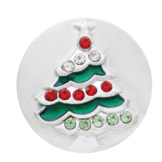 The 20mm Christmas tree with  diamond grab bag silver decorated with enamel KC7693 grab bag jewelry