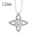 Colgante de collar con cadena 46CM en forma de broches 12MM estilo pequeños trozos de joyería