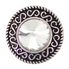 20MM защелкивает куски со сменными украшениями из белого горного хрусталя