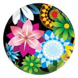 20MM Blume Gemaltes Email Metall C5497 Druck schnappt Schmuck