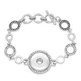 1 boutons avec strass snap slabl bracelet ajustable ajustement s'enclenche bijoux KC0819