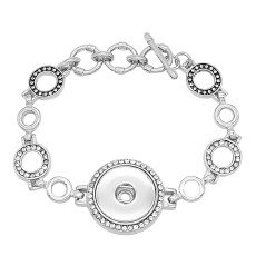 1 buttons With rhinestones snap sliver adjustable bracelet fit snaps jewelry KC0819