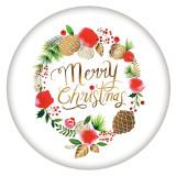 20MM Navidad esmaltado pintado C5491 estampado broches joyería