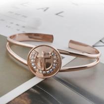 Croix 20MM plaquée or rose avec strass KC5708 snaps bijoux