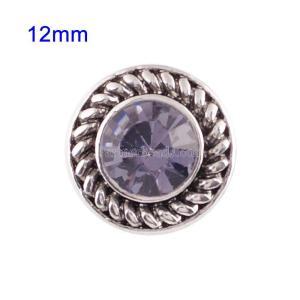 Broches 12mm de tamaño pequeño con diamantes de imitación morados para joyas en trozos