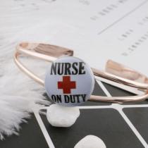 20MM Krankenschwester Lackiertes Email Metall C5149 Druck schnappt Schmuck