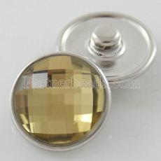 18MM complemento de aleación de cristal amarillo facetado KB2701-AE broches intercambiables