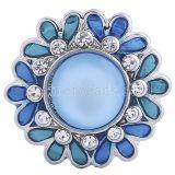 20MM ajusta trozos con ópalos azul claro y joyas intercambiables de diamantes de imitación