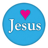 20MM Jesus blue Painted enamel metal C5393 print snaps jewelry