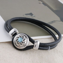 12MM design snap avec strass bleu KS5191-S snaps interchangeables bijoux
