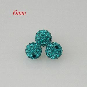 6*6mm Green Rhinestone beads
