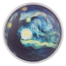 snaps art glass colorful print chunks