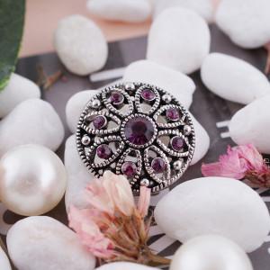20MM оснастка февраль родинка камень фиолетовый KC5046 сменные защелки ювелирные изделия