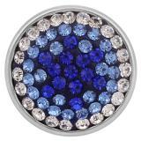 Broches de azúcar azul 18mm Aleación con diamantes de imitación KB2413-AN
