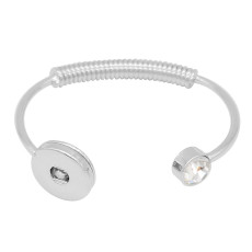 1 buttons snap sliver bracelet fit 20MM snaps jewelry KC0844