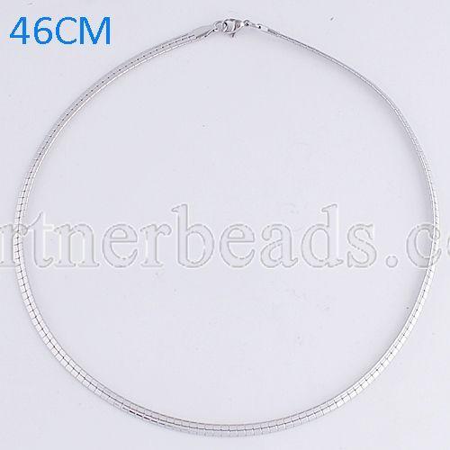 La cadena de moda de acero inoxidable 46CM se ajusta a todas las joyas plateadas FC9020