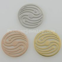 33MM stainless steel coin charms fit  jewelry size wave