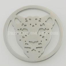 Los encantos de monedas de acero inoxidable 33MM se ajustan al tamaño de la joyería leopardo